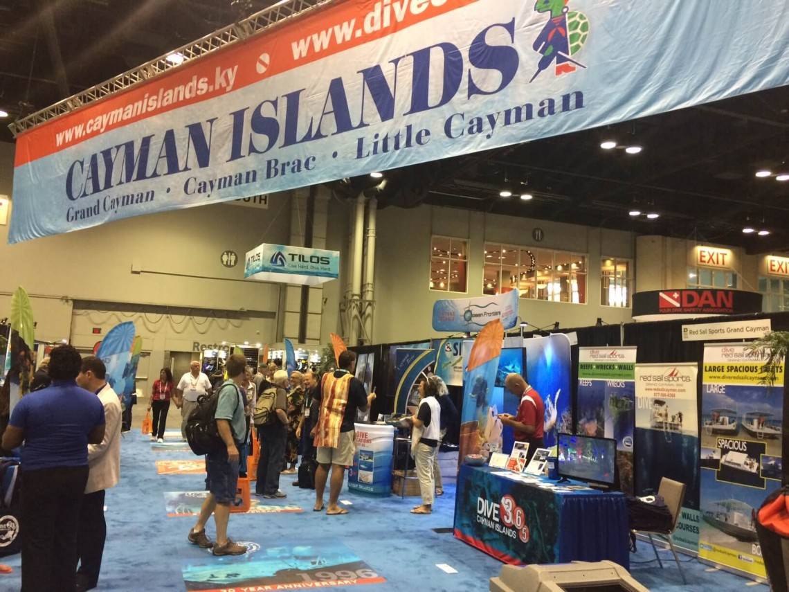 Cayman Showcases it's World Class Diving at DEMA in Orlando