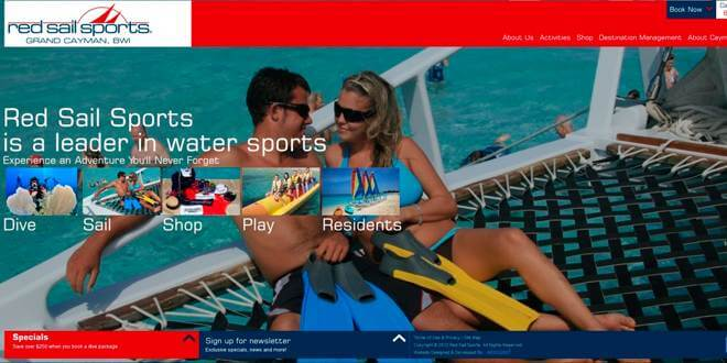 Red Sail Sports Grand Cayman Launches New Website