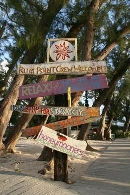 Rum Point Sign Post